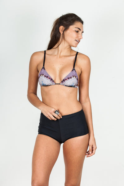String Tie - Purple Aztec