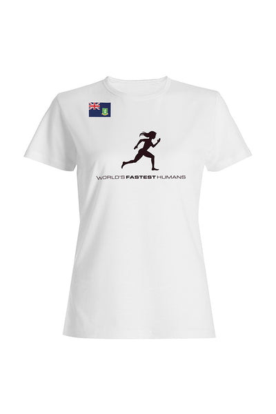 Team British Virgin Islands Running Woman Dry Blend Shirt (Y)