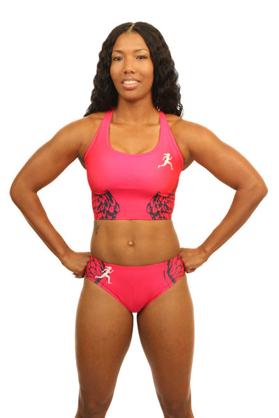 E2001 - Custom Sublimated Compression Sports Bra with Compression Brief