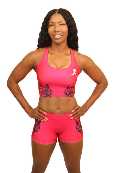 E2001 - Custom Sublimated Compression Sports Bra with Compression Short