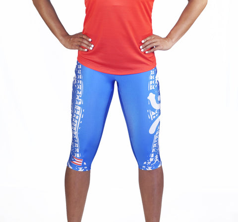 WOMENS PUERTO RICAN COMPRESSION CAPRI