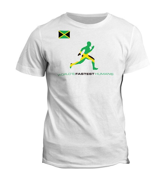 Team Jamaica Flag Running Man Dry Blend Shirt (Y)