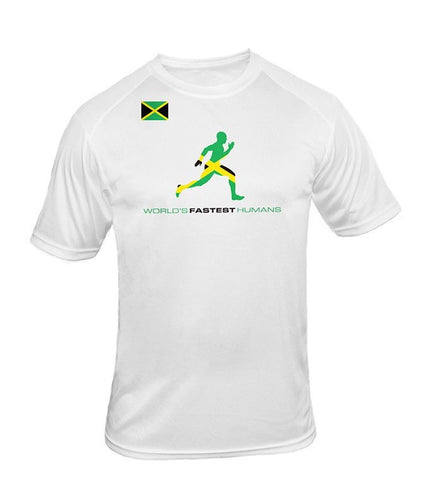 Team Jamaica Flag Running Man Dry Blend Shirt