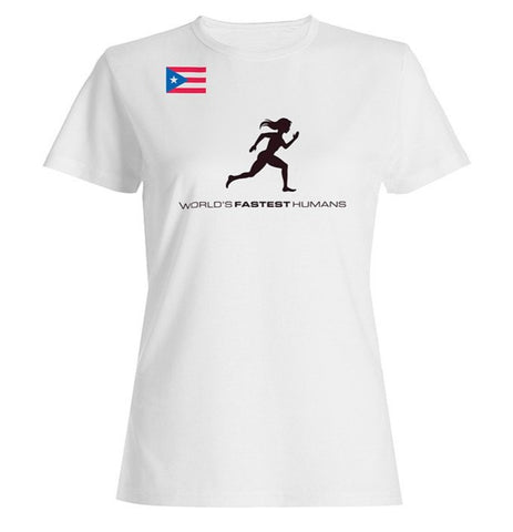 Team Puerto Rico Running Woman Dry Blend Shirt (Y)