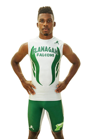 T15112 - Custom Sublimated Sleeveless Compression Top with Compression Short