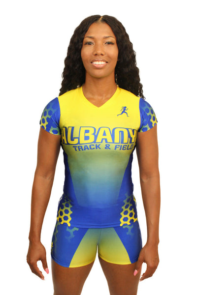T15302 - Custom Sublimated Compression Cap Sleeve Top with Compression Short