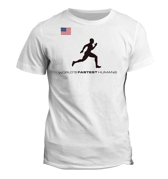 Team USA Running Man Dry Blend Shirt (Y)