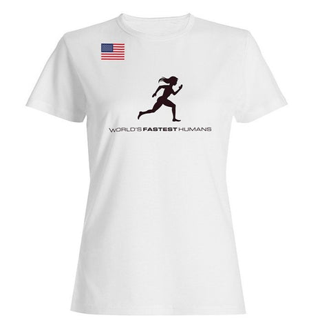 Team USA Running Woman Dry Blend Shirt (Y)