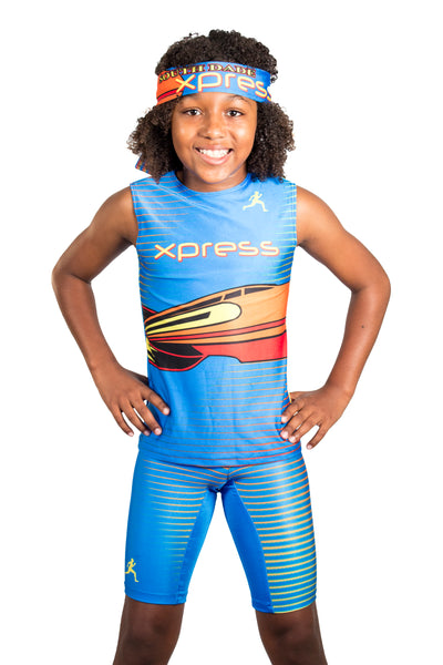 T15112 - Custom Sublimated Sleeveless Compression Top & Compression Short (Y)