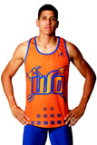 T15212 - Custom Sublimated Running Singlet with Compression Short