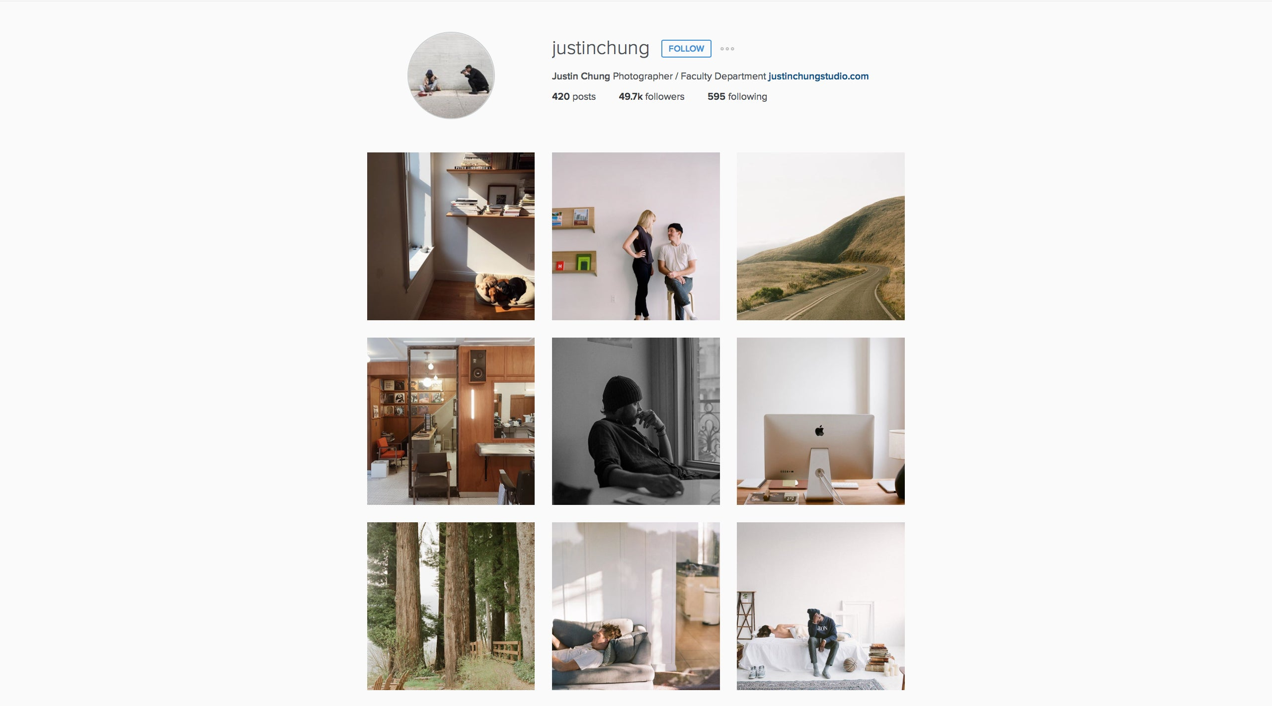 Justin Chung Instagram Preview - Avid & Co. Feature