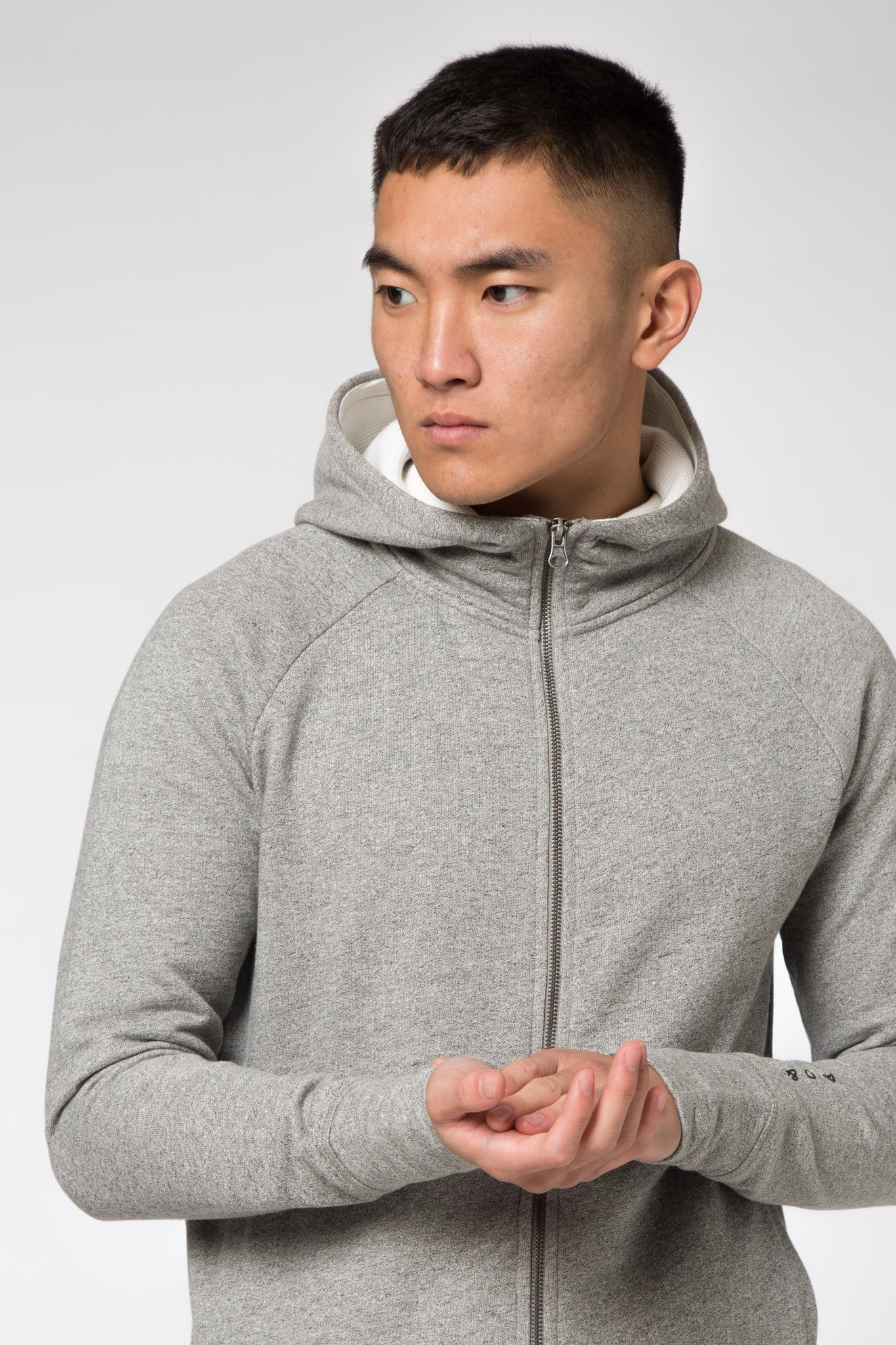 Avid & Co. [ Full Zip ] Hood Grey