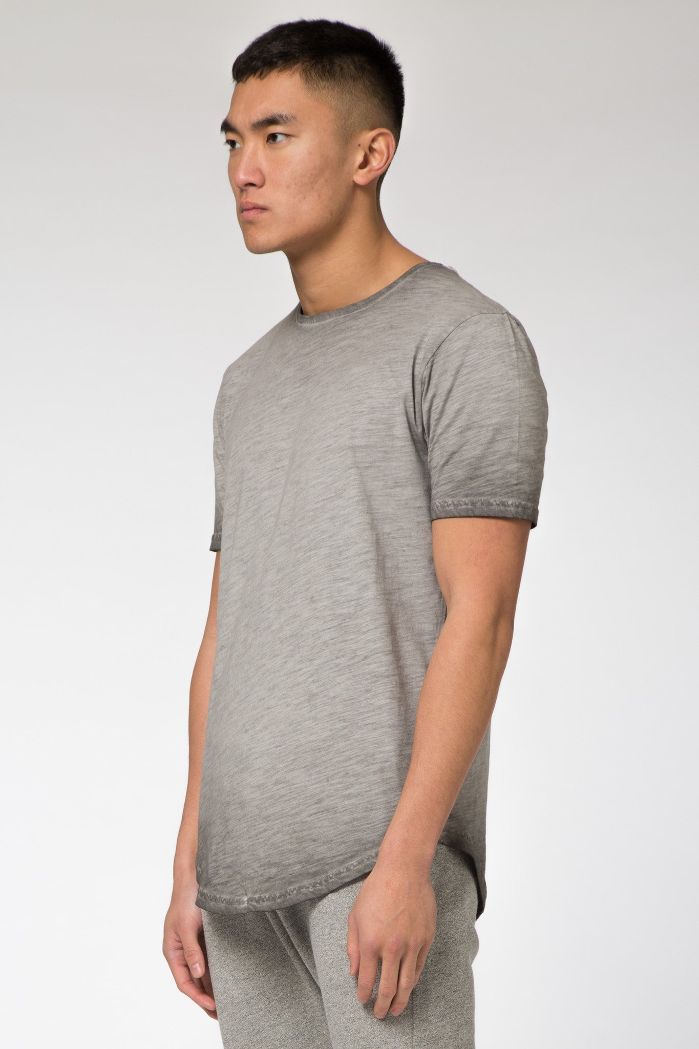 Avid & Co. [ Elliot ] Oil Dye Tee Charcoal