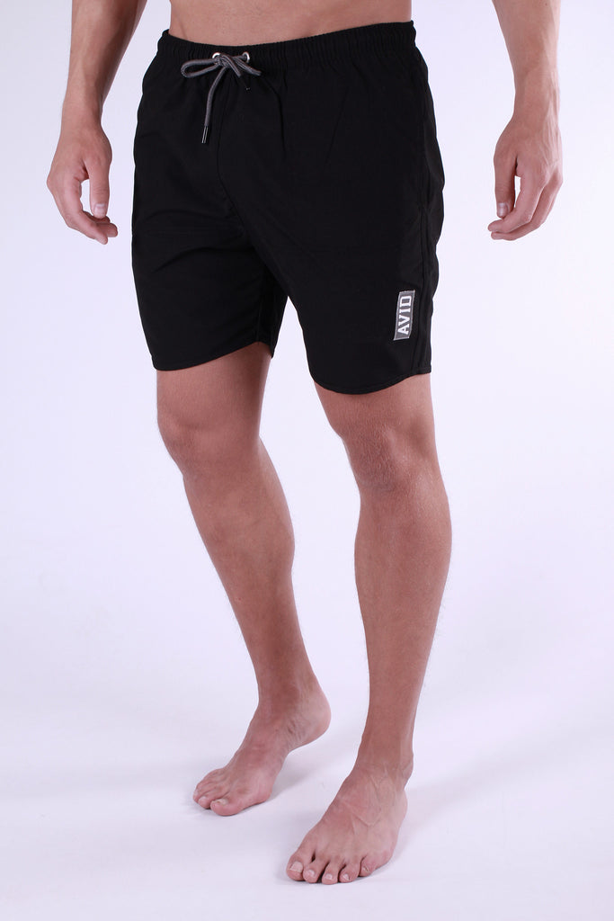 Avid & Co. Black Swim Shorts