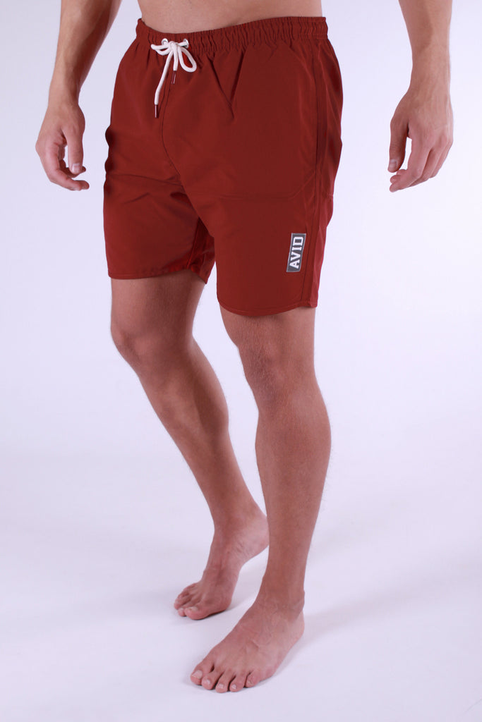 Avid & Co. Maroon Swim Shorts
