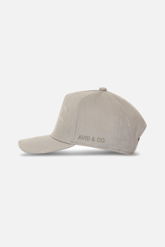 Avid & Co. x Starter® Grey [ Distressed ] Trucker Hat