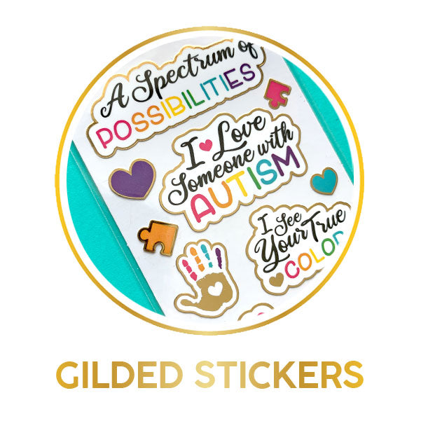 Gilded Stickers