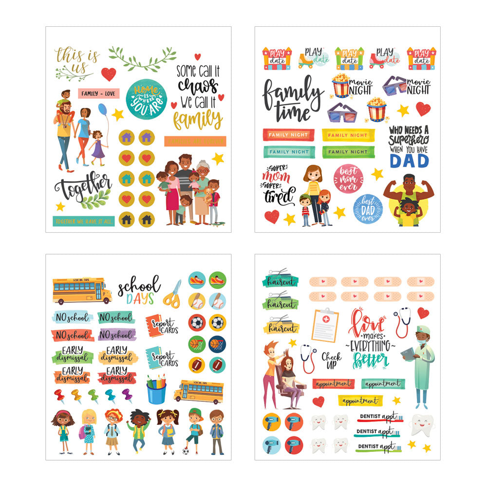Family Life Mini Sticker Book