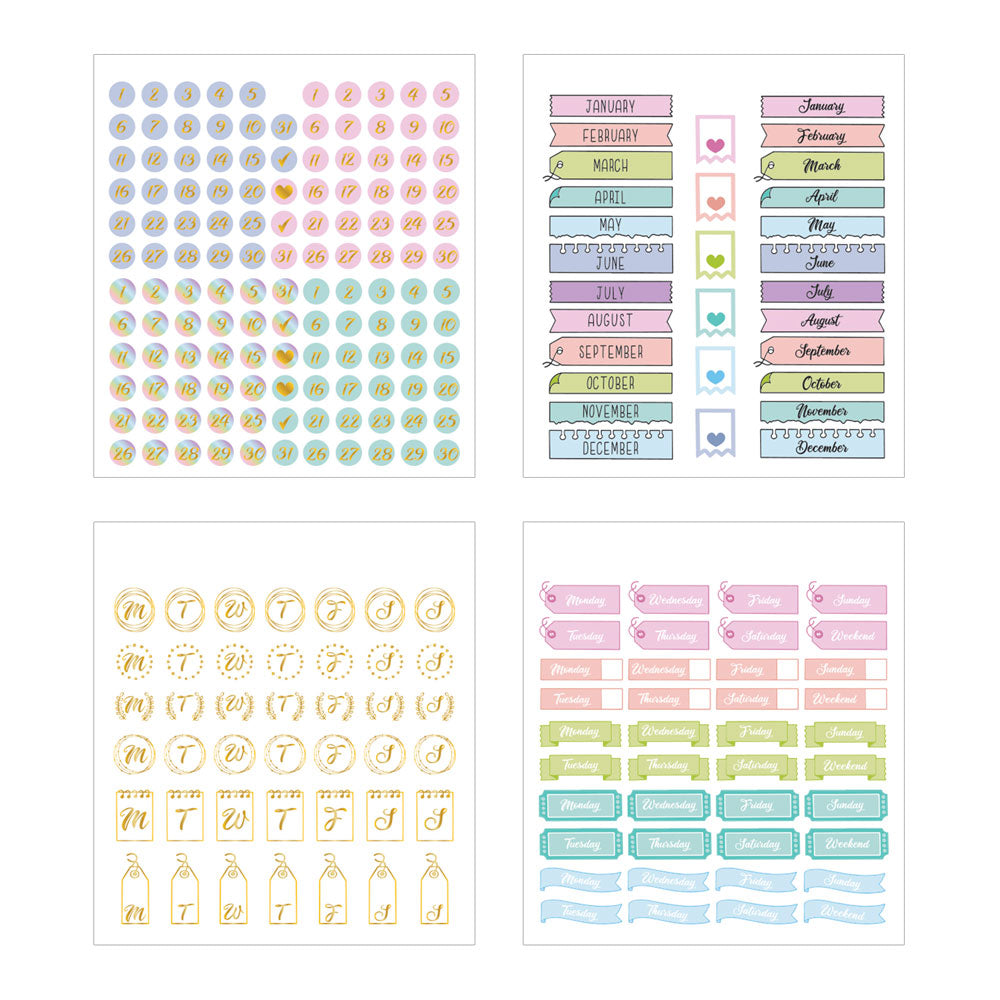 Pastel Self Care Mini Sticker Book