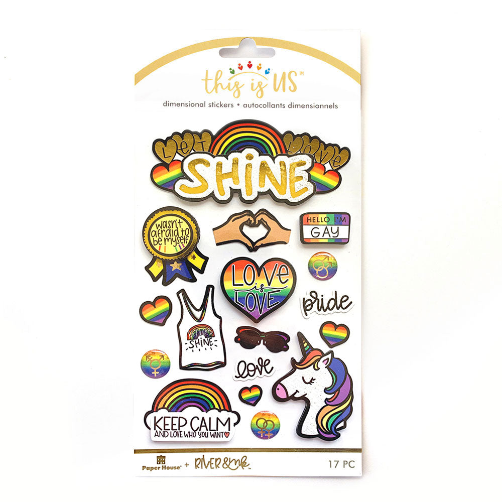Let Love Shine Embellished Sticker