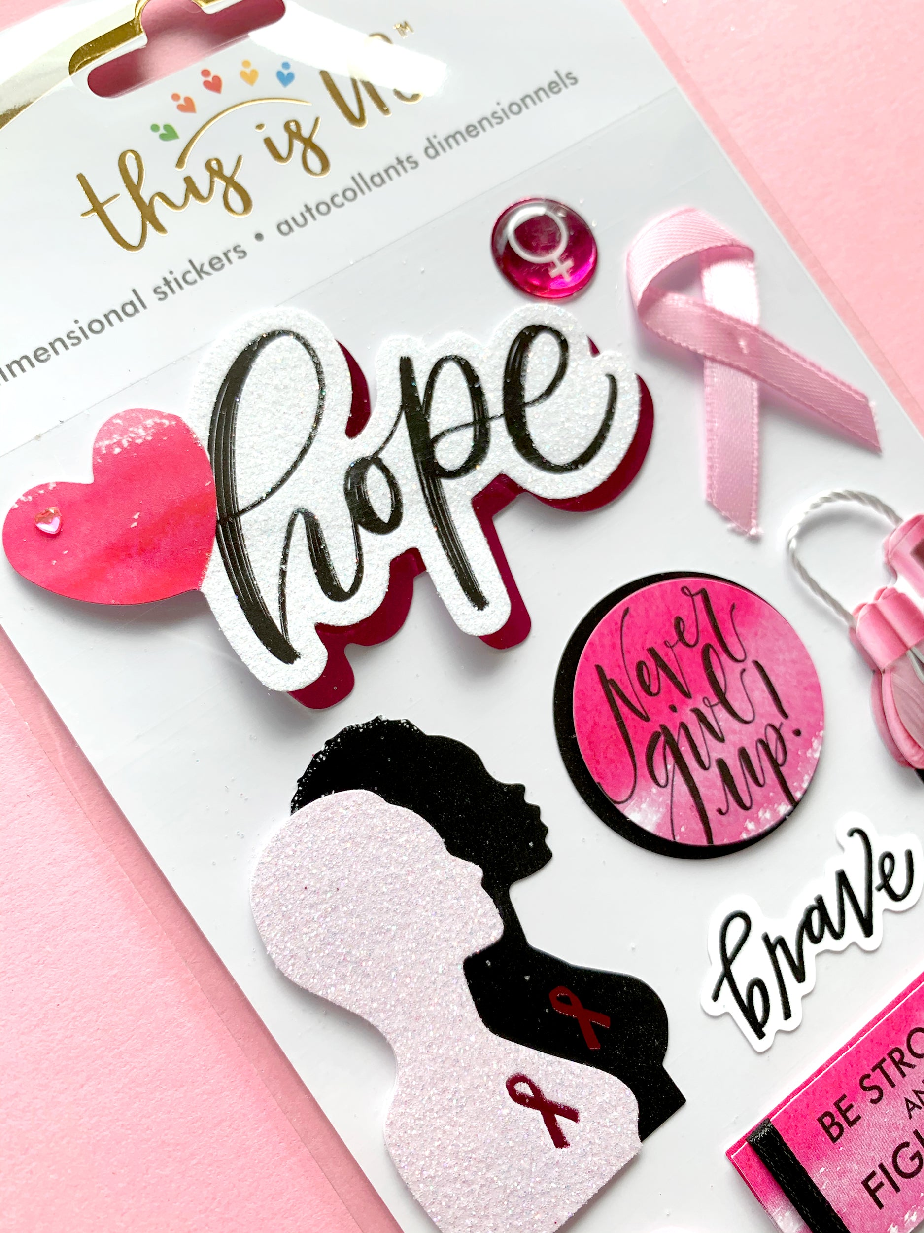 Breast Cancer Embellished Sticker