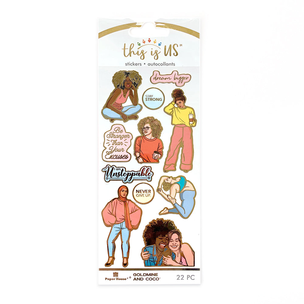 Everyday Woman Gilded Sticker