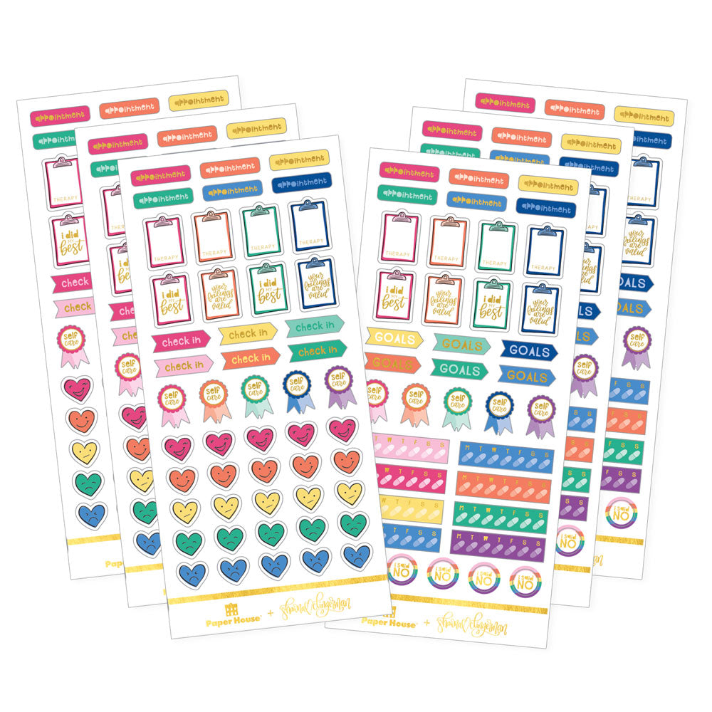 Bright Self Care Therapy Functional Sticker