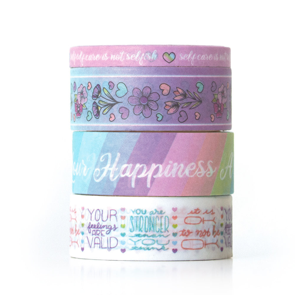 Pastel Self Care Washi Tape Set