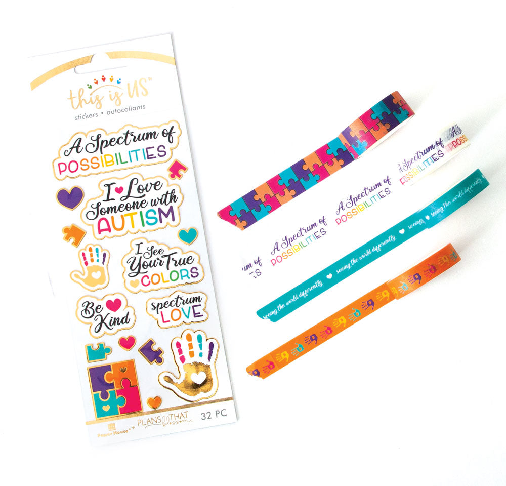 Autism Sticker and Washi Set