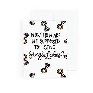 single ladies card - pretty peacock paperie
