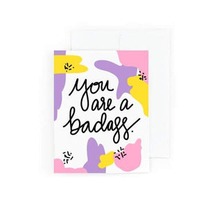 you are a badass card - pretty peacock paperie