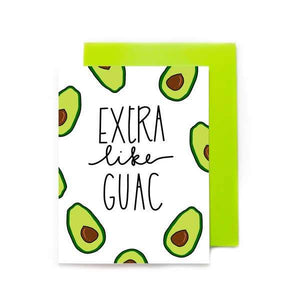 extra like guac - pretty peacock paperie