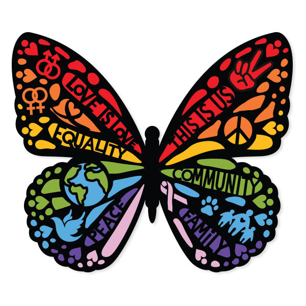 Love Is Love Butterfly Vinyl Sticker