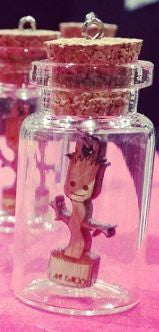 Baby Groot Bottle Necklace