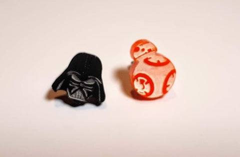 Darth Vader & BB8 Stud Earrings