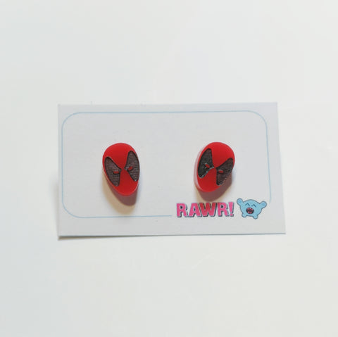 Deadpool Stud Earrings