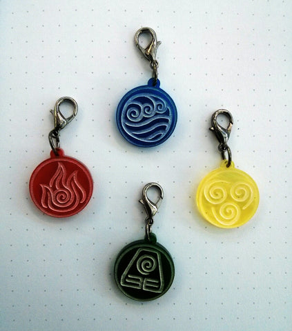Avatar Elements Charms