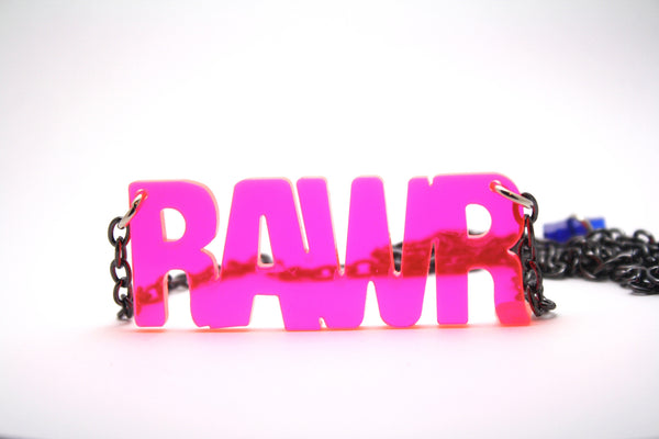 RAWR Necklace Pink