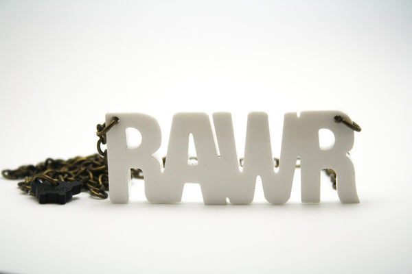 RAWR Necklace White