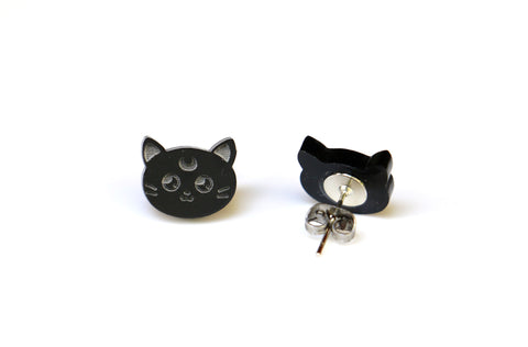 Luna Kitty Stud Earrings