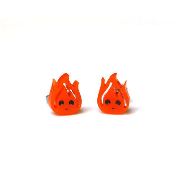 Calcifer Stud Earrings