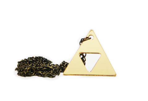 Golden Triforce necklace