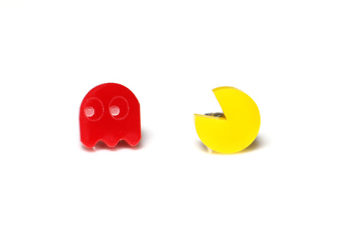 Pacman Stud Earrings