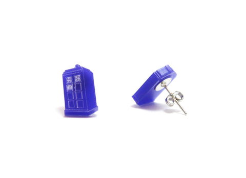 Police Box Stud earrings