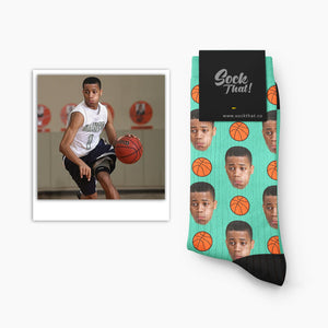 Custom Basketball Face Socks