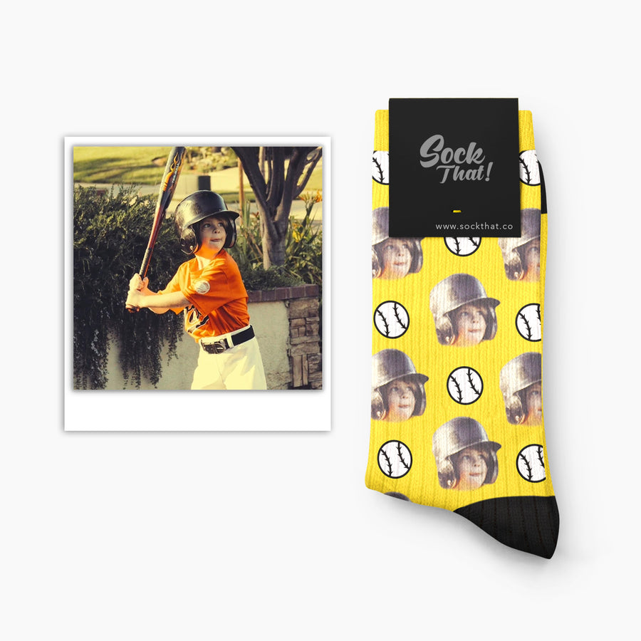 Custom Baseball Face Socks
