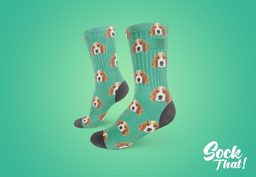 Custom Animal Face Socks 😀 - Sock That!