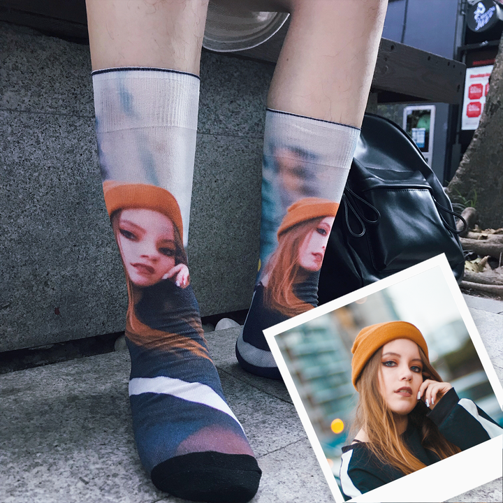 Breezy & Sparkly: Portrait Photo Socks