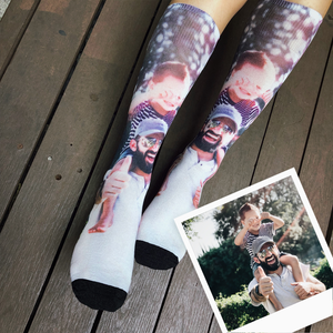 Breezy & Sparkly: Casual Photo Socks