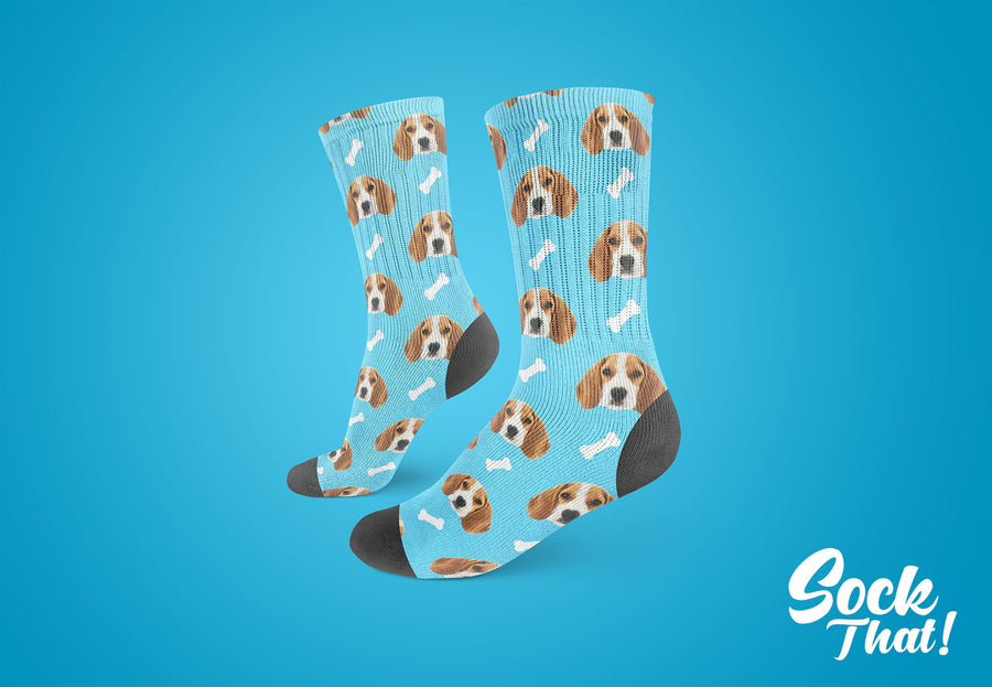 Custom Dogs & Bones Face Socks 🦴 - Sock That!